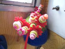 Handmade button flowers