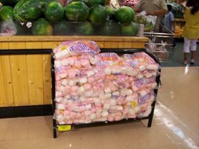 These marshmellows were as big as oranges!!