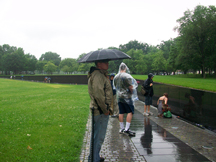 Jeremy at the Vietnam Veterans Wall