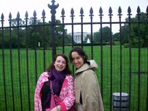 Mariko and Me outside the White House