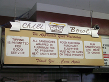 Ben's Chili Bowl - One of Obama's favorites.