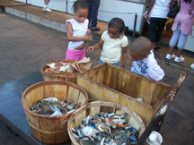 Kids at the Fishmarket