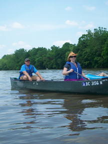 Jeremy and me in a canoe