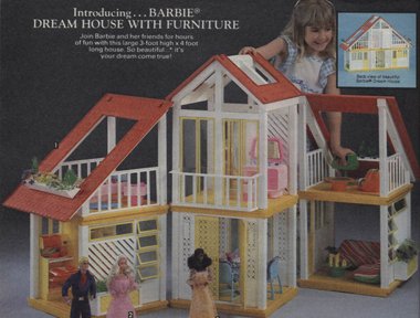 The Barbie Dream House in case you were wondering