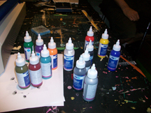 Our ink choices - so many to choose from. Thanks Mike at Provo!