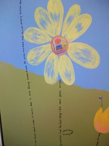 Text - kids poetry as flower stems