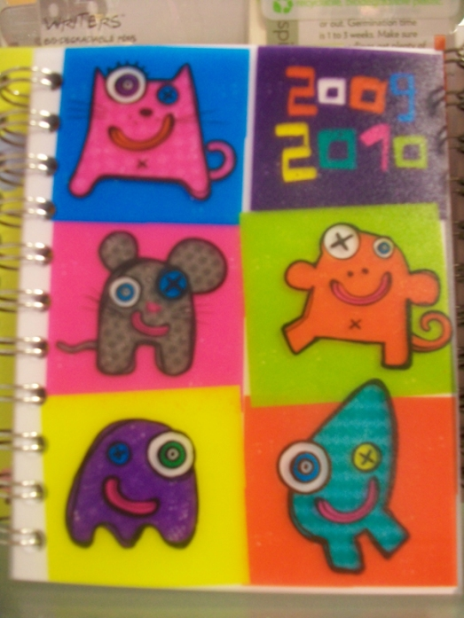 Cute critters on a journal cover