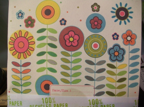 Flower stationery set