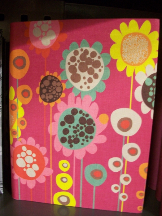 A journal cover with flowers