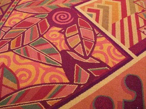Close up of carpet