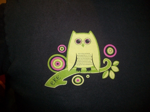 Owl screen printed on canvas bags - ideally filled with take-a-way party favors