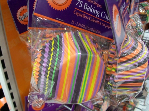 Fabu cupcake papers for the delicious pumpkin flavored cupcakes I'd make