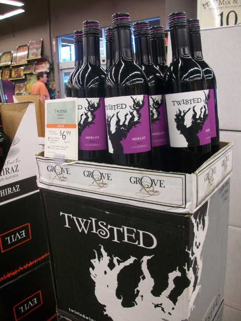 """Twisted"" red wine"