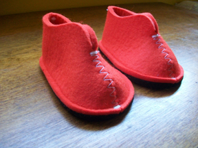 These are red orange felt for the morning with a warm spot of milk